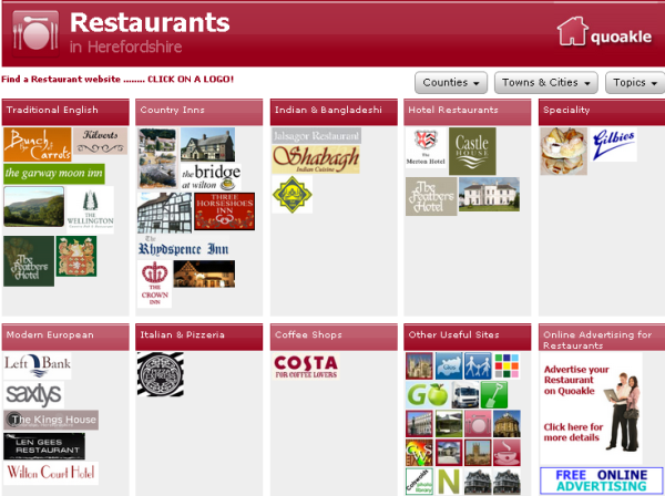 Herefordshire Restaurants